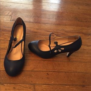 ModCloth Mary Janes in navy blue 9, never worn.